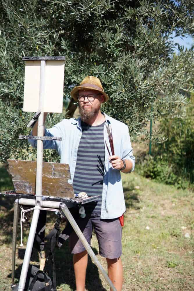 Painting in San Gimignano